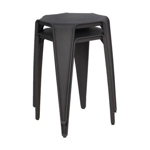 八角形膠疊椅疊凳-深灰色