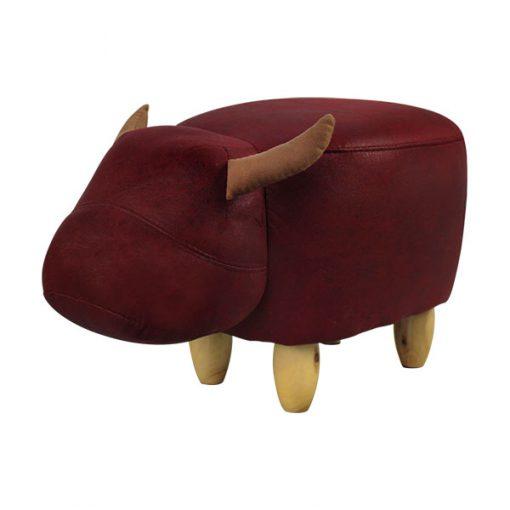 可愛動物椅換鞋凳-牛牛