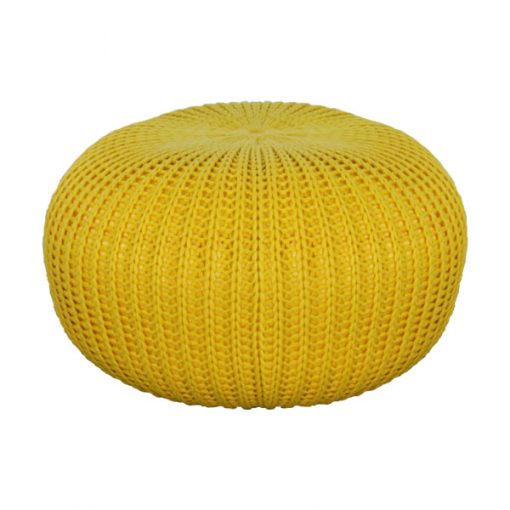 黃色冷織輕巧雪豆坐墊