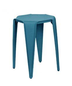 八角形膠疊椅疊凳-藍色