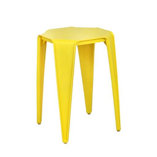 八角形膠疊椅疊凳-黃色
