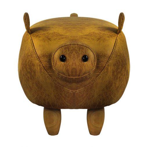可愛動物椅換鞋凳-豬豬