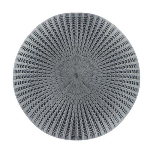灰色冷織輕巧雪豆坐墊