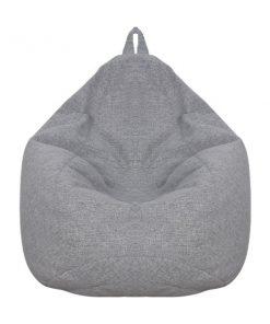 灰色雪豆可拆洗布藝舒適懶人梳化