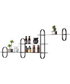 組合式玻璃鐵藝層架(1-2-3-1)