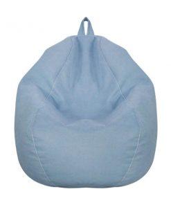 藍色雪豆可拆洗布藝舒適懶人梳化