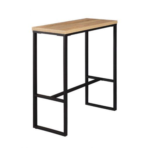 長方形木製鐵藝吧枱-100cm