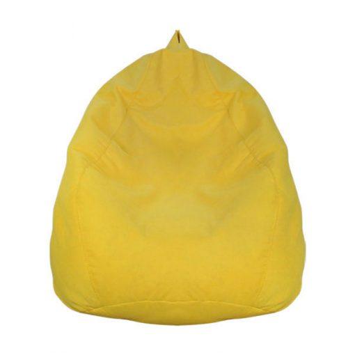 黃色雪豆可拆洗布藝舒適懶人梳化