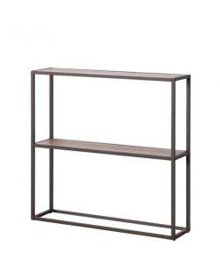 黑色兩層木製鐵藝玄關桌-KNE-STJV12