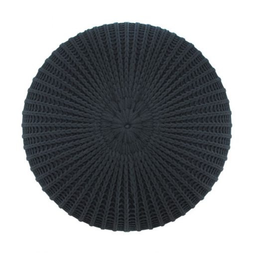 黑色冷織輕巧雪豆坐墊