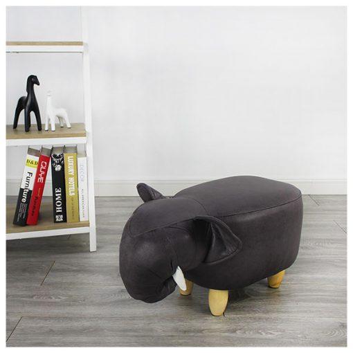 可愛動物椅換鞋凳-象象