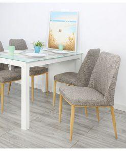 布藝軟墊餐椅