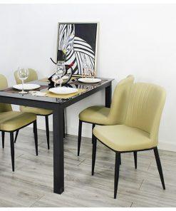 仿皮軟墊餐椅
