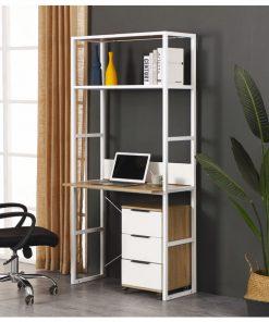 高身電腦組合書枱連3層可移動櫃桶