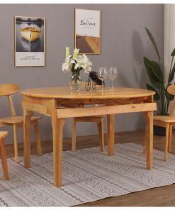 可開合圓形全實木餐桌-KNE-FRDT66