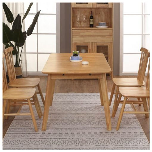 可開合長方形全實木餐桌-KNE-FQDT66